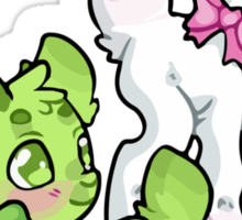 Clovers and Pink Ribbon Sticker