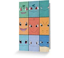 Kanto Starters - Pokemon Poster - Charizard Blastoise Venusaur Greeting Card
