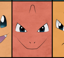 Kanto Starters - Pokemon Poster - Charizard Blastoise Venusaur Sticker