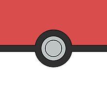 Pokemon Pokeball Minimal Design Poster by Jorden Tually