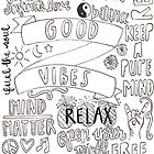 Good Vibes Collage by maddiedrawings