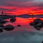 Sky on Fire - Lake Tahoe by Richard Thelen