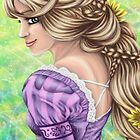 Rapunzel Portrait by Kimberly Castello