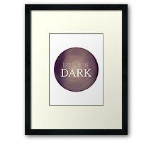 RIDDLES IN THE DARK Framed Print