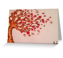 Blown Away Blossoms  Greeting Card
