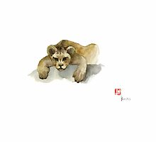 Leo King Africa Earth Animal Animals Pet Pets Forest Wild Watercolor Painting by Johana Szmerdt