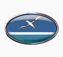 Midway Islands Flag in Glass Oval	 by Ovals