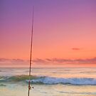 Fishing for a Sunrise - Gold Coast Qld Australia by Beth  Wode
