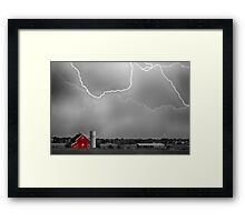 Farm Storm HDR BWSC Framed Print