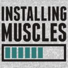 Loading Muscles - Nerd, Gamer, Geek Workout Shirt by printproxy