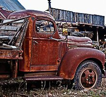 Old Flatbed International Truck by Lee Craig