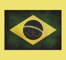 Retro vintage Brazil flag T-shirt by Speedy78