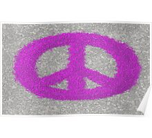 The Fuchsia Splat Painted Peace Symbol Poster