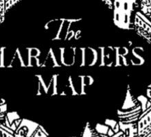 Marauder's Map Sticker