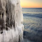 Icy Boulder, Lake Superior by Michael Treloar