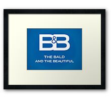 The Bald & The Beautiful Framed Print