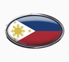 Philippines Flag in Glass Oval by Ovals