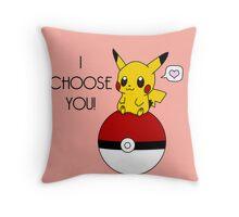 Pokemon Pikachu Valentine's Day Design! (Pink) Throw Pillow