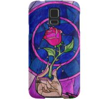 Beauty and the Beast Stain Glass Rose Case Samsung Galaxy Case/Skin