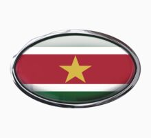 Suriname Flag in Glass Oval by Ovals