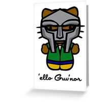 MF DOOM KITTY Greeting Card