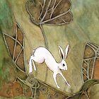 Hare with Standing Stones by Maria Forrester