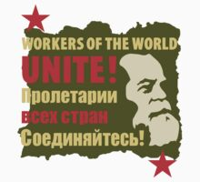 Karl Marx Workers of the World Unite! Stickers by NeoFaction