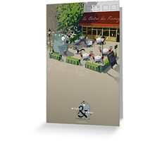 Mr. Elephant & Mr. Mouse Bistro Greeting Card
