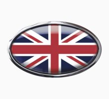 United Kingdom Flag in Glass Oval by Ovals