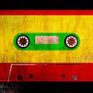 Grunge Reggae Cassette Tape - Cool Retro Music Prints by Denis Marsili