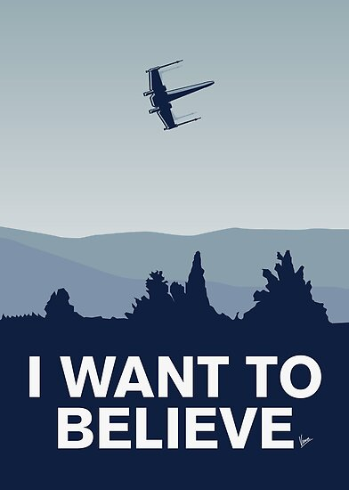 My I want to believe minimal poster-xwing by Chungkong
