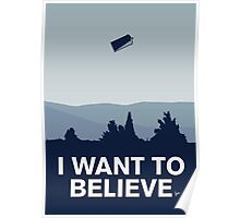 My I want to believe minimal poster-tardis Poster