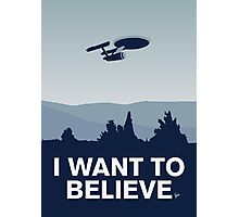 My I want to believe minimal poster-Enterprice Photographic Print