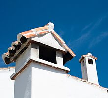 Spanish Rooftops by Anne Gilbert