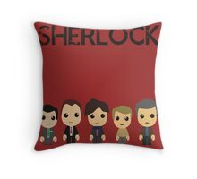 Five's a Crowd Throw Pillow