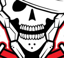 Metal Skull Solid Sticker