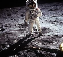 Buzz Aldrin on the Moon (Apollo 11) by cadellin