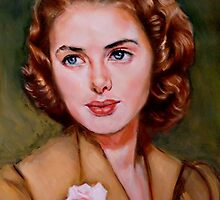 portrait of Ingrid Bergman by Hidemi Tada