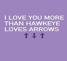 Avenger Valentines - Hawkeye by lilblueartist