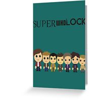 SupercuteWhoLock Greeting Card