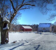 West Virginia Snow Scene by James Brotherton