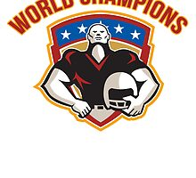 American Football World Champions Shield by patrimonio
