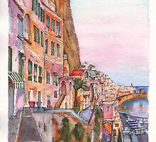 The vertical Amalfi at Sunset by Dai Wynn