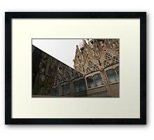 Reflecting on Sagrada Familia, Antoni Gaudi's Masterpiece Framed Print