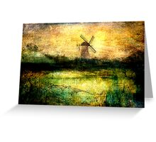 Turning Windmill Greeting Card