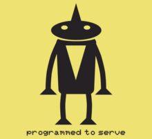 Robot Programmed to serve Kids Clothes