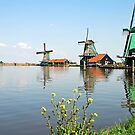 Zaanse schans - Netherlands by Arie Koene