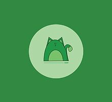 Green Cat Phone Case by Louise Parton