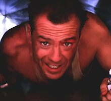 Bruce Willis in the film Die Hard by Gabriel T Toro
