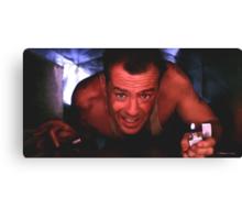 Bruce Willis in the film Die Hard Canvas Print